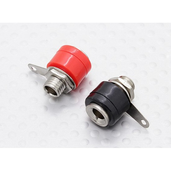 Banana Female Connector 4mm Jack Pair Chassis Mount