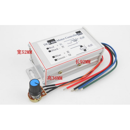 PWM DC motor speed controller Driver 20A