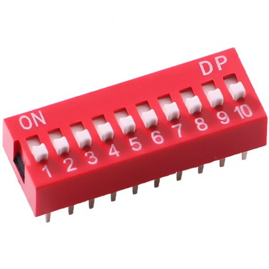 DIP SW 10P Dial Toggle Switch
