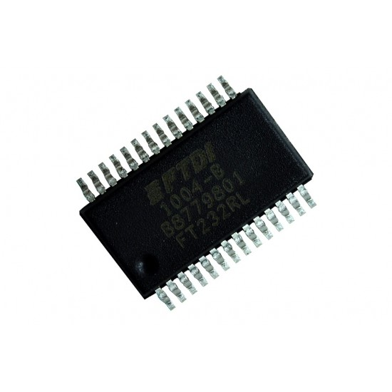 FT232RL IC USB Bridge, USB to UART USB 2.0 UART Interface 28-SSOP