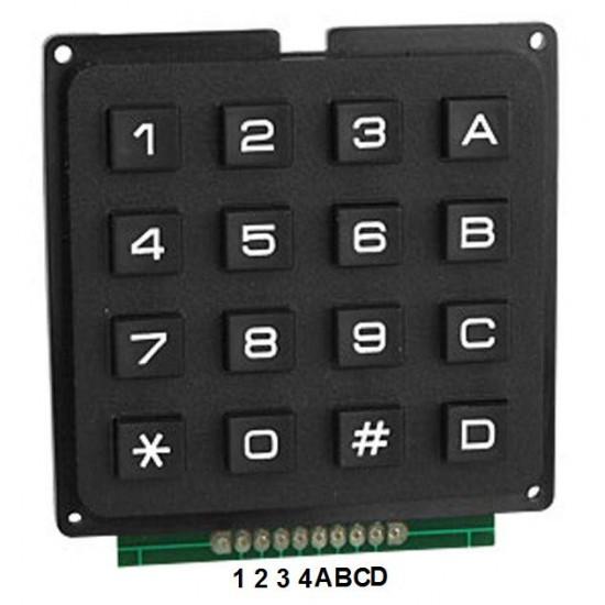 Keypad 4x4 Standard Black