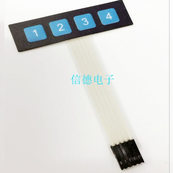 Keypad 4 button Mebrane