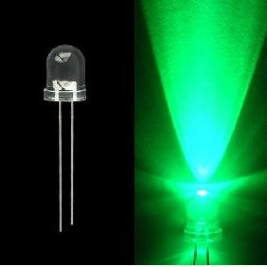 LED High Emission Clear GREEN 5mm