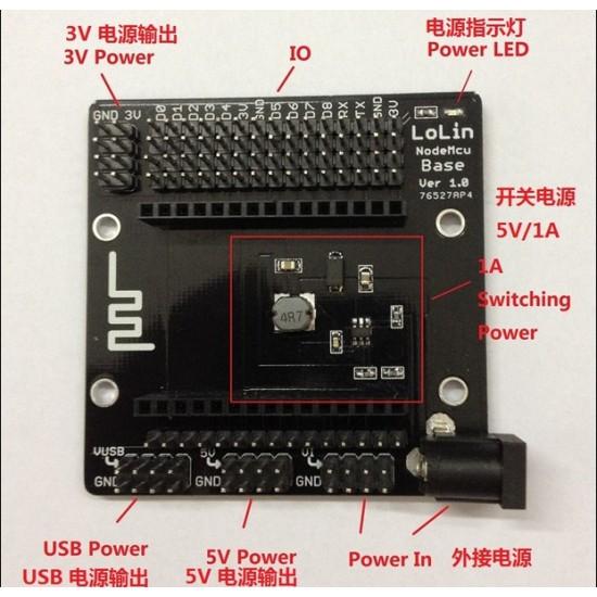 Breakout Board for NodeMCU LUA WiFi Internet of things ESP8266 WITH CP2102 USB - UART Development Board IoT