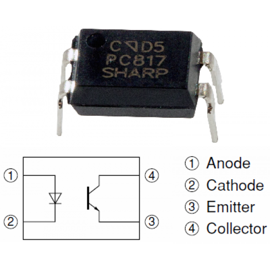 PC817 OptoCoupler Optoisolator DIP IC