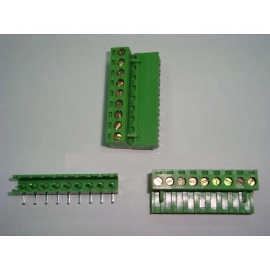 10P SCREW TERMINAL BLOCK M/F 10 POLE 5.0MM