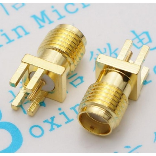 SMA Female Connector Straight PCB Mount
