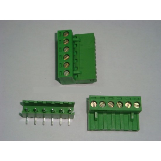 6P SCREW TERMINAL BLOCK M/F 6 POLE 5.0MM