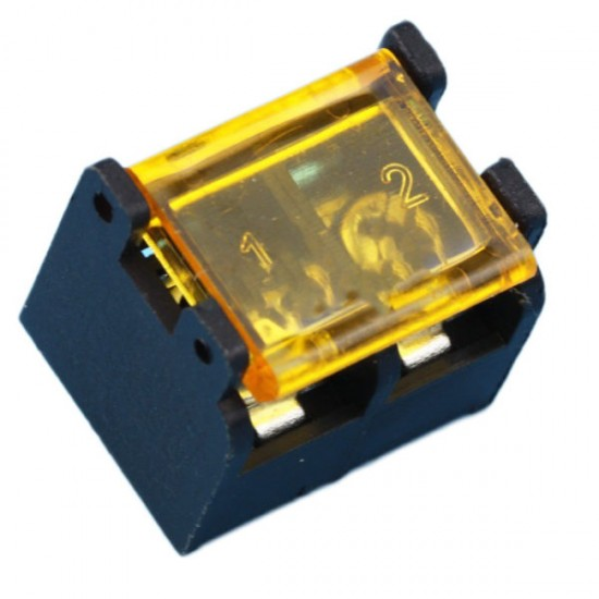 Barrier Screw Terminal Block Connector 2Pin with Safety Cover