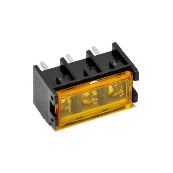 Barrier Screw Terminal Block Connector 3Pin with Safety Cover