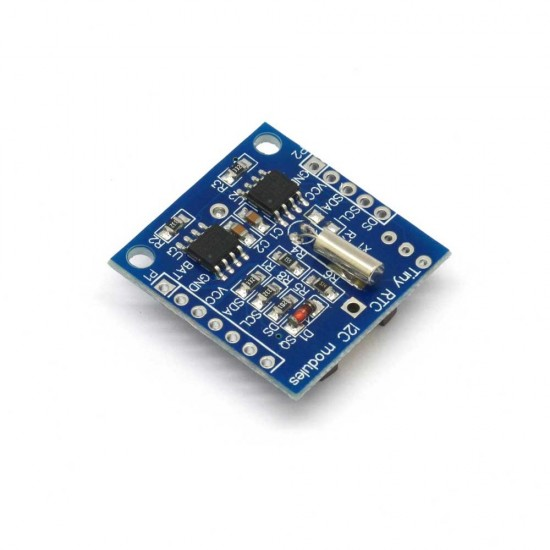 Tiny RTC Module ( On-board DS1307 I2C real-time clock chip, 24C32 32K I2C EEPROM memory)