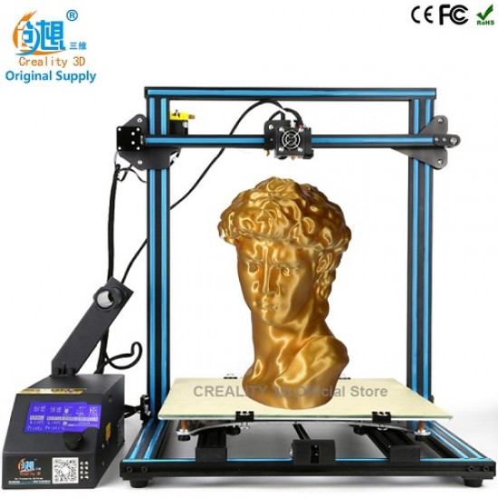 CREALITY 3D CR-10s LARGE 3D PRINTER - FULL RUGGED METAL FRAME 400X400X400 WORKING SPACE