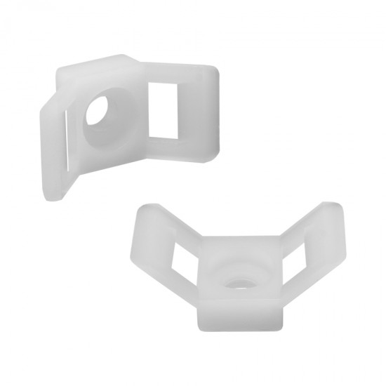 HC-4 Nylon saddle type cable tie mount in natural color
