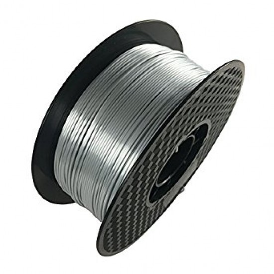 PLA High Quality Filament Silver Color 1.75mm/1Kg Reel
