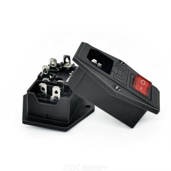 AC Power Connector with Switch and Fuse Holder for 3D printer DIY accessories Makerbot