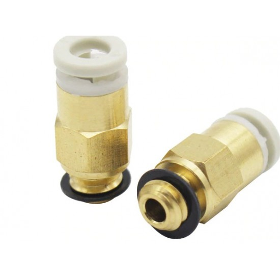 Pneumatic Fittings Connector Straight Air 3D Printers Parts Copper For V6 Bowden Extruder 4*2mm