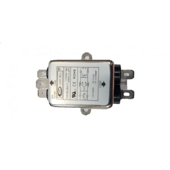 Noise Suppressor Power EMI Filter, single-phase 220V purification 6A Filter CW1B-06A-T AC 115/250V,6 Amp