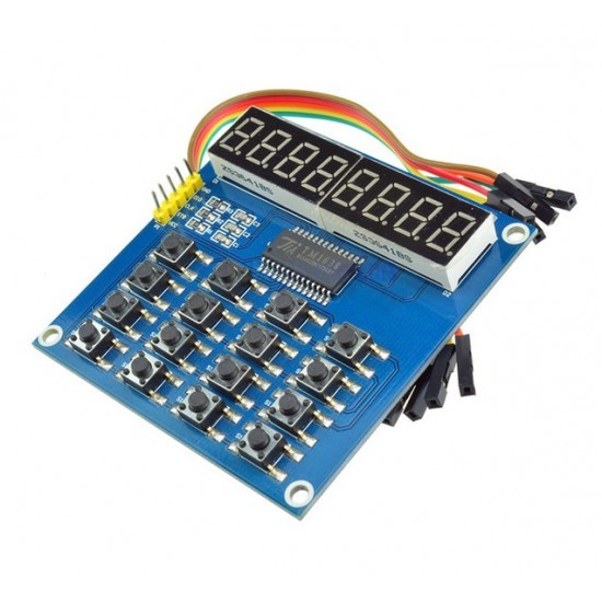 Ardiuno/51 TM1638 3-wire control 8-bit common anode led keyboard